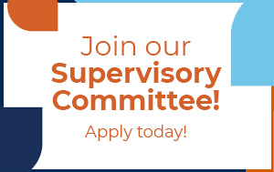 Join our Supervisory Committee! Apply today!
