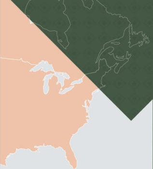 PCAF - Map Image of North America