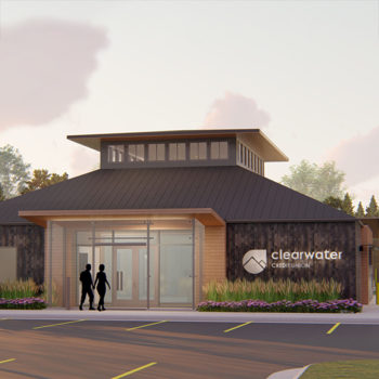 Architect rendering of new Brooks Street Branch.