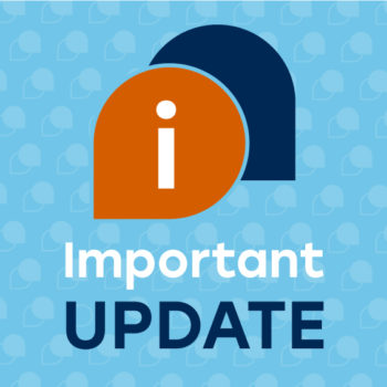 Graphic with words 'Important update'