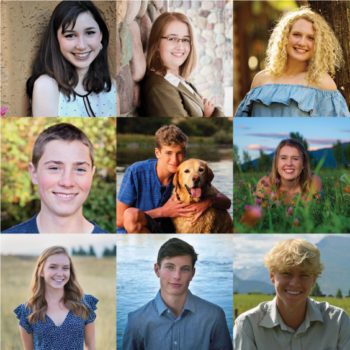 Photo collage of the 9 2020 Clearwater Scholarship winners.