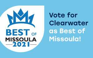 Graphic with Best of Missoula 2021 Logo and words 'Vote for Clearwater'