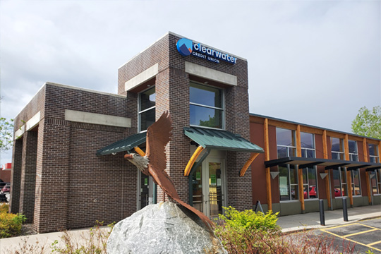 Photo of the Stevensville Clearwater Credit Union branch located in Stevensville, Montana.